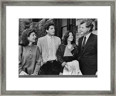 Kennedy Family. From Left  Former First Framed Print by Everett