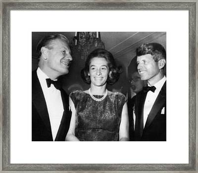 Kennedy Family. From Left New York Framed Print by Everett