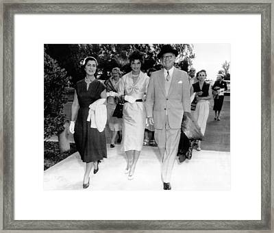 Kennedy Outing To Hialeah Race Track Framed Print by Everett