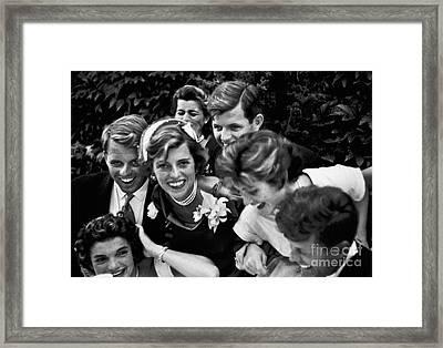 Kennedy Wedding, 1953 Framed Print by Granger