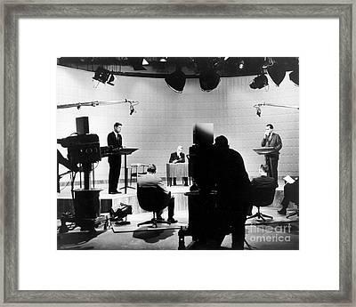 Kennedy/nixon Debate, 1960 Framed Print by Granger