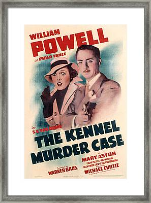 Kennel Murder Case, The, Mary Astor Framed Print