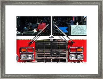 Kensington Fire District Fire Engine . 7d15861 Framed Print by Wingsdomain Art and Photography