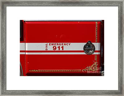 Kensington Fire District Fire Engine . 7d15866 Framed Print by Wingsdomain Art and Photography