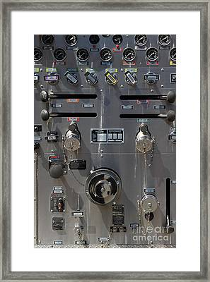 Kensington Fire District Fire Engine Control Panel . 7d15857 Framed Print by Wingsdomain Art and Photography