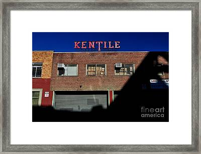 Kentile Factory Framed Print