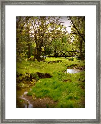 Kentucky Bridge Framed Print by Cindy Wright