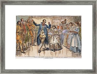 Kentucky: Colonial Wedding Framed Print by Granger