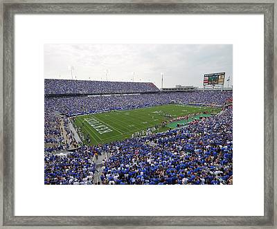Kentucky Commonwealth Stadium Framed Print by University of Kentucky