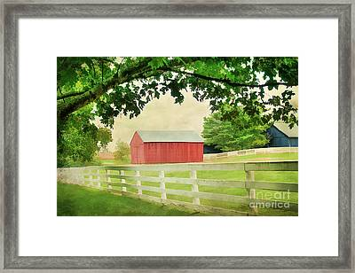 Kentucky Country Side Framed Print by Darren Fisher