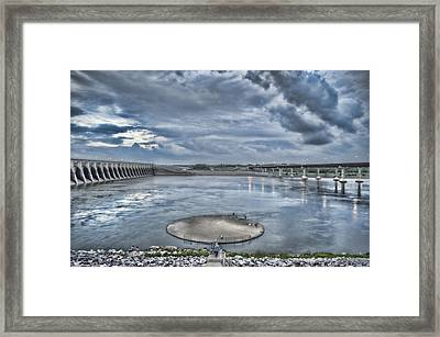 Kentucky Dam Dusk Framed Print by Jim Pearson