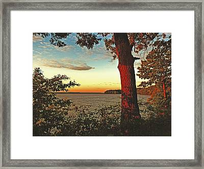 Framed Print featuring the photograph Kentucky Lake Sunrise by William Fields