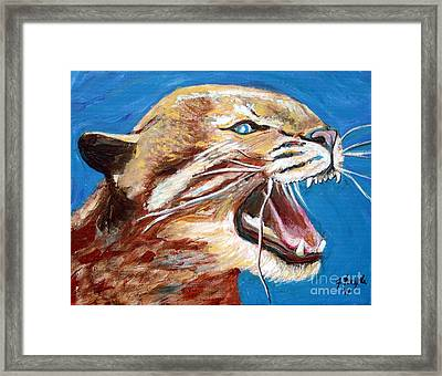 Framed Print featuring the painting Kentucky Wildcat by Jeanne Forsythe