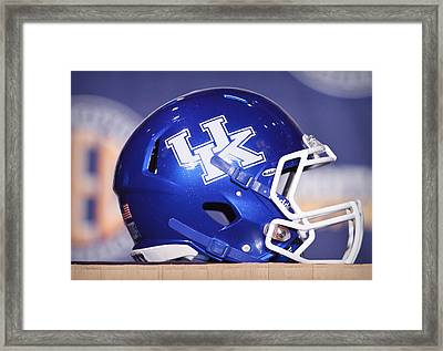 Kentucky Wildcats Football Helmet Framed Print