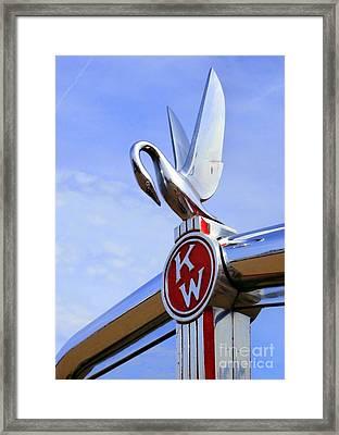 Kenworth Insignia And Swan Framed Print by Karyn Robinson