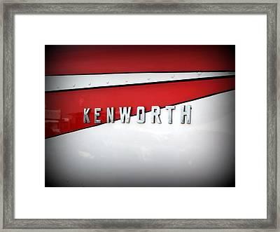 Kenworth Truck Logo Framed Print by Karyn Robinson