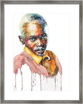Kenya Blue Framed Print