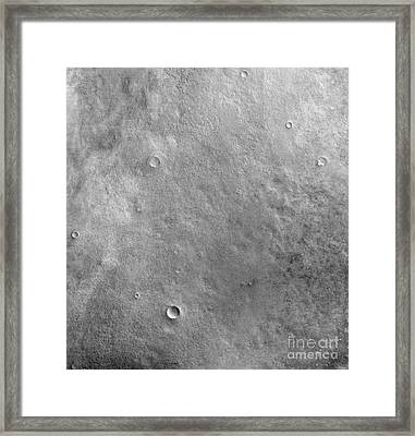 Kepler Crater On The Surface Of Mars Framed Print by Stocktrek Images