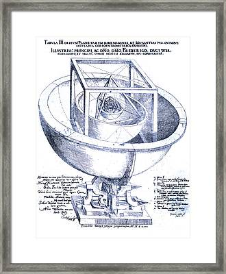 Keplers Planetary Orbit Framed Print by Science Source