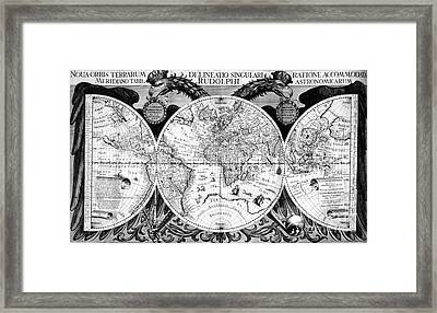 Keplers World Map, Tabulae Framed Print by Science Source