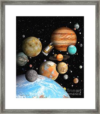 Kepler's Worlds Framed Print by Lynette Cook