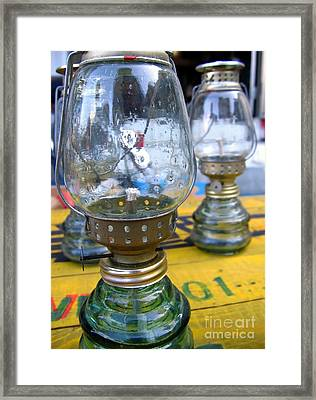 Kerosene Lamps Framed Print by Yali Shi