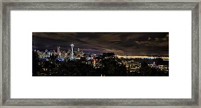 Kerry Park Night View Framed Print