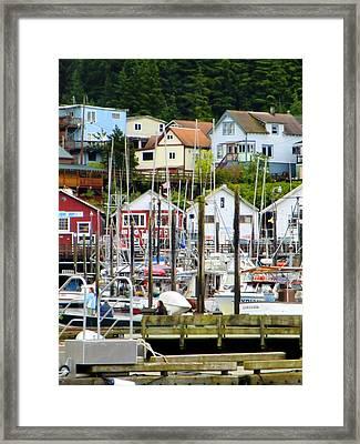 Ketchakan Alaska Marina Framed Print by Mindy Newman