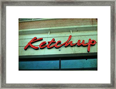 Ketchup Framed Print by Sharon Coty