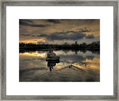 Ketring Lake Sunset Framed Print