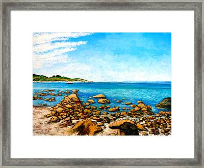 Framed Print featuring the painting Kettle Cove by Tom Roderick