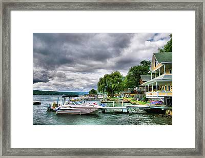 Keuka Lake Shoreline Framed Print by Steven Ainsworth