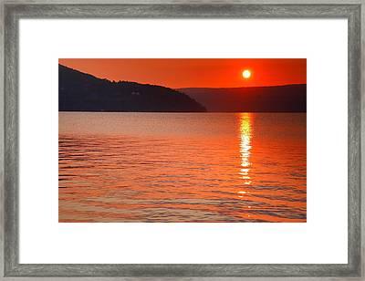 Keuka Sunrise  Framed Print by Steven Ainsworth