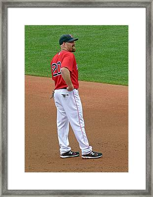 Kevin Youkilis Framed Print by Juergen Roth