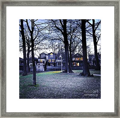 Kew Park At Dusk Framed Print