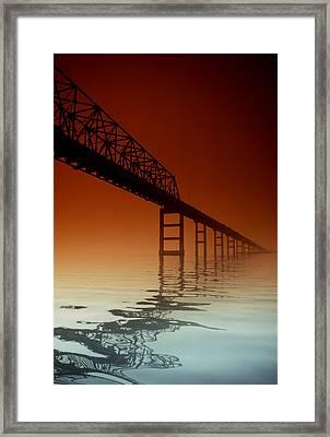 Key Bridge Framed Print by Skip Willits