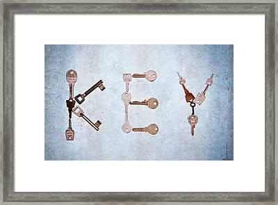 Key Creation Framed Print by Kelly Sillaste