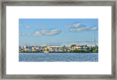Key Largo Houses Framed Print by Chris Thaxter