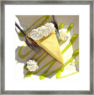 Key Lime Pie Framed Print
