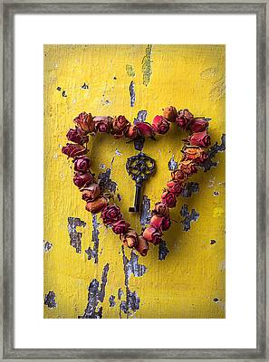 Key To My Heart Framed Print by Garry Gay