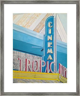 Key West - Tropic Cinema Framed Print by John Schuller