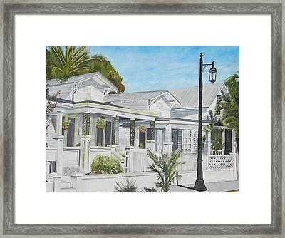 Key West - Whitehead Street Framed Print by John Schuller