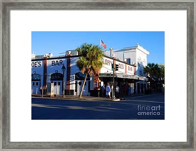 Key West Bar Sloppy Joes Framed Print by Susanne Van Hulst