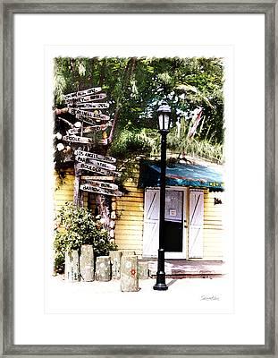Key West Signs Framed Print by Linda Olsen