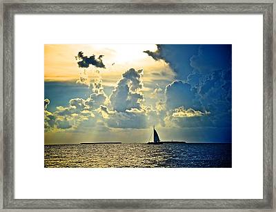 Key West Sunset Framed Print