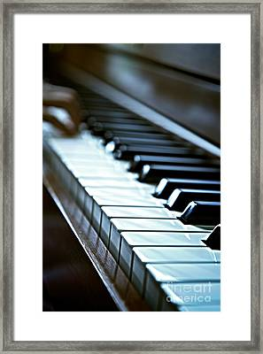 Keys Of Life Color3 Framed Print by James Serikov