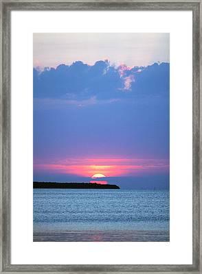 Keys Sunset Framed Print by Ty Helbach