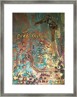 Keys To Creativity Framed Print