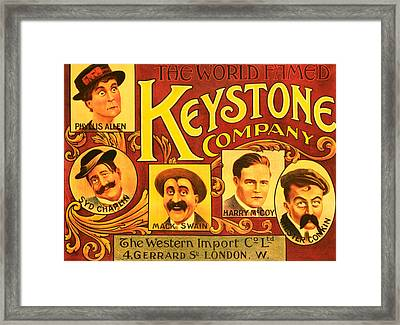 Keystone Film Company, Promotional Framed Print by Everett