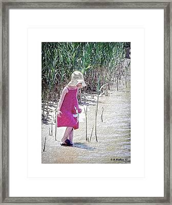 Khloe - Pencil Effect Framed Print by Brian Wallace